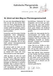 Katholische Pfarrgemeinde St. Ulrich