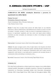 Narrativas em Rede Articulações Discursivas e ... - ECA-USP