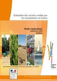 évaluation des services rendus par les écosystèmes en France ...