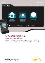 Seminarprogramm - Somfy