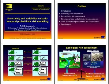 Uncertainty and variability in spatio- temporal probabilistic risk ...