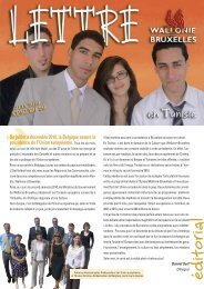 Lettre de la Délégation Wallonie-Bruxelles à Tunis - n°26 - WBI