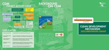 CDM Documentation Grant Brochure - Energy Efficiency