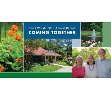 2013 Annual Report - Carol Woods Retirement Community