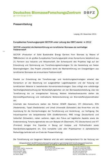 Pressemitteilung - BIOS Bioenergiesysteme GmbH