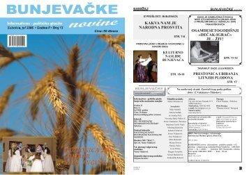 BUNJEVAČKE novine - Bunjevci.com - Bunjevci