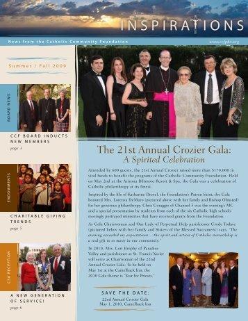 The 21st Annual Crozier Gala: - Catholic Community Foundation