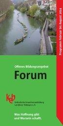 Forum Februar bis August 2014 - Katholischen Erwachsenenbildung ...