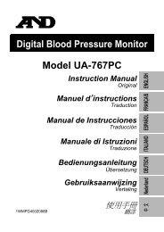Digital Blood Pressure Monitor Model UA-767PC Instruction Manual ...