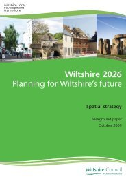 Wiltshire 2026 Spatial Strategy Background Paper - Wiltshire Council