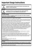 Inststruction Manual Instruction Manual Manuel d'instruction Manual ... - Page 2