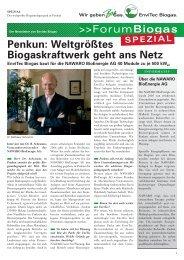 Penkun: Weltgrößtes Biogaskraftwerk geht ans Netz - EnviTec Biogas AG