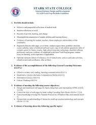 ECA228 Internet/Intranet Design and Development - Stark State ...