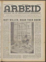 Arbeid (1943) nr. 24 - Vakbeweging in de oorlog