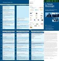 1. Forum Bioenergie - FICHTNER Plattform für Emissionshandel