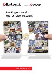 Meeting real needs with concrete solutions. - Bank Austria