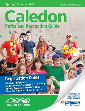 to view the Spring / Summer Guide - Town of Caledon