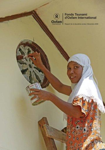 Fonds Tsunami d'Oxfam International - Rapport de la deuxième année