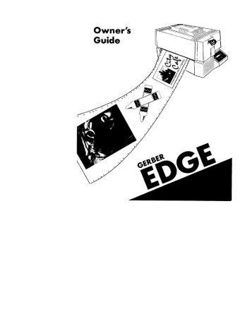 Gerber Edge fx Service Manual