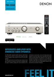 PMA-520AE INTEGRATED AMPLIFIER WITH ... - Denon UK