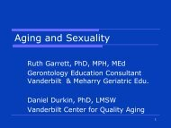Aging and Sexuality - Southern Gerontology Society
