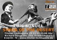 LUIS BUÑUEL SIMON OF THE DESERT - Tilsiter Lichtspiele