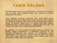 Bölüm Tanıtımı - Fen Edebiyat Fakültesi - Karabük Üniversitesi