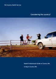 Living in Country WA - WA Country Health Service