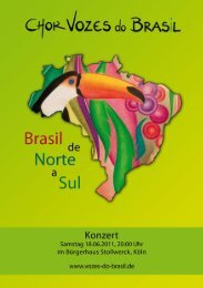 Programm Jahreskonzert 2011 - Vozes do  Brasil