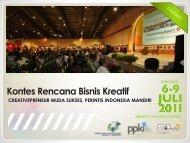 Pengumuman Pemenang Kontes Kreatif dan Klip ... - Indonesia Kreatif