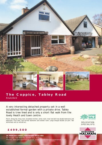 The Coppice, Tabley Road