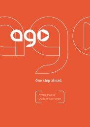 Presentation for South African market - AGO AG Energie + Anlagen