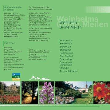 Weinheims Grüne Meilen - Stadt Weinheim