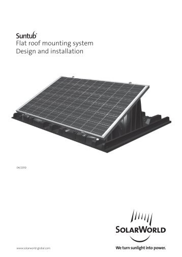 Flat roof mounting system Design and installation - Rexel ...