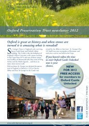 Spring/Summer Newsletter 2012 - Oxford Preservation Trust