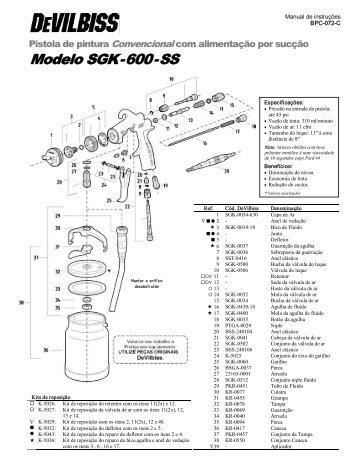 Pistola Devilbiss SGK-600 - Raoli