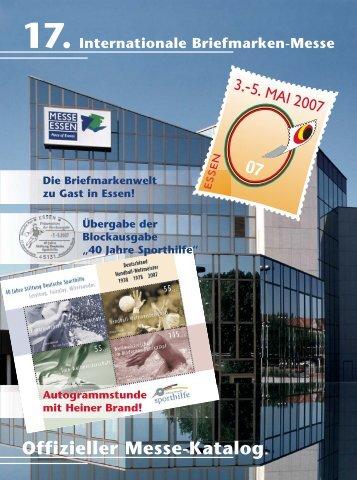 Offizieller Messe-Katalog - (Briefmarken) Messe Essen