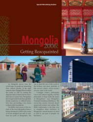 Mongolia - Forbes Special Sections