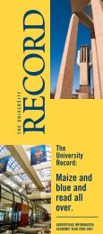Maize and blue and read all over. - The University Record