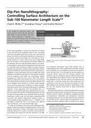 Dip-Pen Nanolithography: Controlling Surface ... - Nano Mahidol