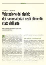 Valutazione del rischio dei nanomateriali negli alimenti ... - SIVeMP