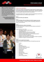 Developing performance indicators - Volunteering Qld
