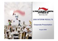 2006 Interim Results Corporate Presentation - Li Ning