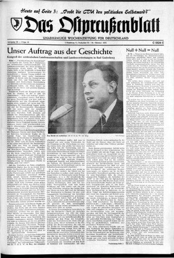 Unser Auftrag aus der Geschichte - Archiv Preussische Allgemeine ...