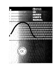 6B Series User's Manual - Analog Devices