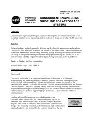 concurrent engineering guideline for aerospace systems