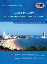 IUMRS-ICA 2010 First Circular and Call for Papers - National Center ...