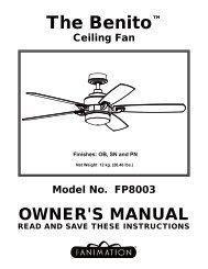 FP8003 BENTIO CEILING FAN - Fanimation