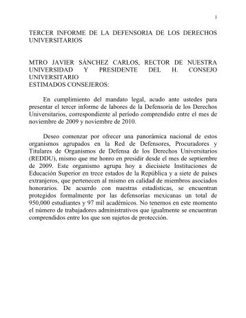 Tercer Informe - Universidad Autónoma de Ciudad Juárez