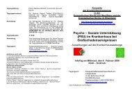 Psycho – Soziale Unterstützung (PSU) im Krankenhaus bei ...